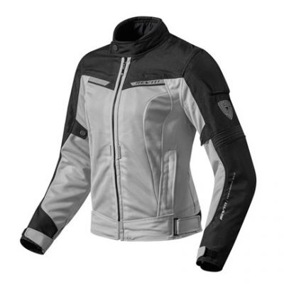CHAQUETA REV\'IT AIRWAVE 2 LADY PLATA NEGRO 1