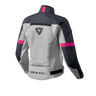 CHAQUETA REV\'IT AIRWAVE 2 LADY PLATA FUCSIA 1
