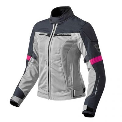 CHAQUETA REV\'IT AIRWAVE 2 LADY PLATA FUCSIA 0