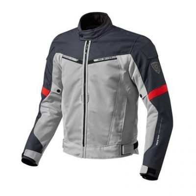 CHAQUETA REV\'IT AIRWAVE 2 PLATA ROJO 1