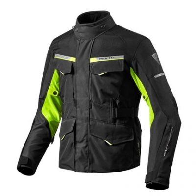 CHAQUETA REV\'IT OUTBACK 2 BLACK NEON YELLOW 1