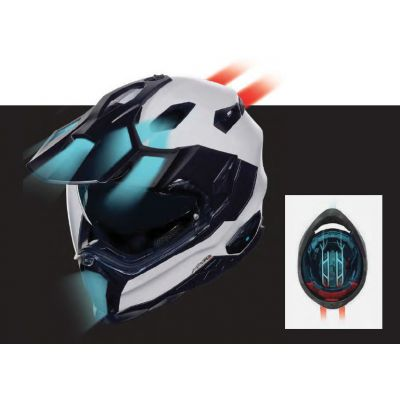 CASCO NEXX X.WED 2 X-PATROL TITANIUM-BLUE-RED 1