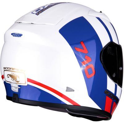 CASCO SCORPION EXO 710 AIR GT WHITE-BLUE-RED T.S 2