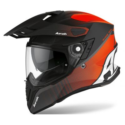 Casco Airoh Commander Progress Naranja Mate 0