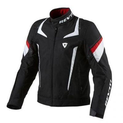 CHAQUETA REV\'IT JUPITER BLACK-WHITE-RED 1