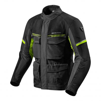 CHAQUETA REV\'IT OUTBACK 3 BLACK-YELLOW FLUOR 1450 1