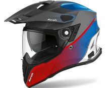 Casco Airoh Commander Progress Rojo Azul Mate
