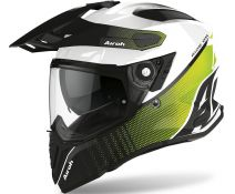 Casco Airoh Commander Progress Amarillo Lima Brillo