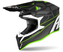 Casco Off-road Airoh Wraap Mood Verde Mate