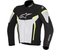CHAQUETA ALPINESTARS T-GP PLUS R V2 AIR BLACK-WHITE-FLUOR