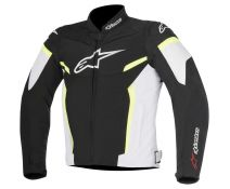CHAQUETA ALPINESTARS T-GP PLUS R V2 BLACK-WHITE-YELLOW FLUOR T.S