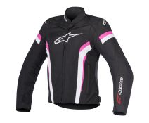 CHAQUETA ALPINESTARS T-GP PLUS R V2 STELLA AIR BLACK-WHITE-FUCHSIA