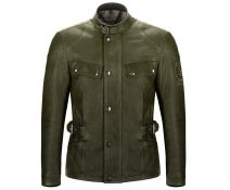CHAQUETA BELSTAFF PIEL CRYSTAL PALACE GREEN OLIVE