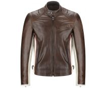 CHAQUETA BELSTAFF PIEL LONG EATON BROWN T.M