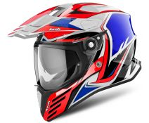 CASCO AIROH COMMANDER CARBON RED BLUE GLOSS