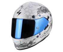 Casco Integral Scorpion Exo 510 Air Azalea Blanco Perla-plata