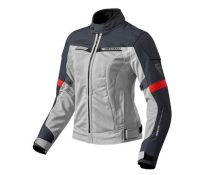CHAQUETA REV'IT AIRWAVE 2 LADY PLATA ROJO