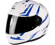 Casco Integral Scorpion Exo 390 Hawk Pearl White-blue