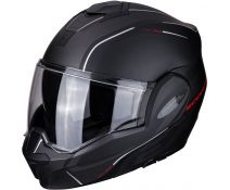 Casco Scorpion Exo-tech Time Off Matt Black-red