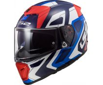 Casco Ls2 Breaker Ff390 Android Blue-Red-White