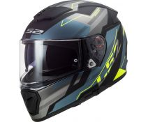 Casco Ls2 Breaker Ff390 Beta Matt Cobalt H-v Yellow