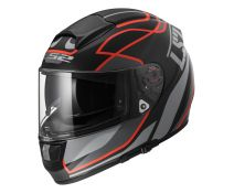 CASCO LS2 VECTOR VANTAGE MATT BLACK RED
