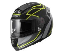 CASCO LS2 VECTOR VANTAGE MATT BLACK H-V YELLOW