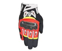 GUANTES ALPINESTARS SMX-2 AIR CARBON V2 BLACK-RED FLUOR-WHITE-YELL FLUOR