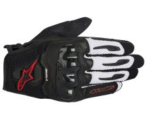 GUANTES ALPINESTARS SMX-1 BLACK-RED-WHITE T.S