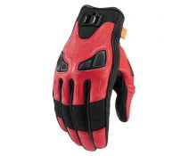 GUANTES ICON AUTOMAG 2 RED