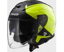 Casco Ls2 Of521 Infinity Beyond Black Hi-vis Yellow
