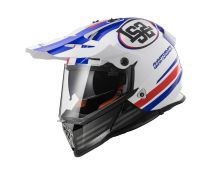 CASCO LS2 PIONEER MX436 QUARTERBACK WHITE RED BLUE