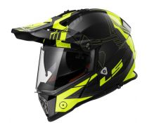 CASCO LS2 PIONEER MX436 TRIGGER BLACK H-V YELLOW