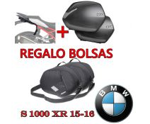 PACK MALETAS LATERALES SHAD SH36 + HERRAJES + REGALO BOLSAS INTERIORES BMW S1000XR 15-17