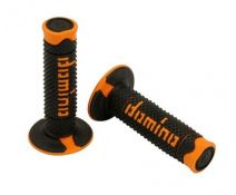 JUEGO DE PUÑOS DOMINO OFF-ROAD BLACK-ORANGE
