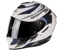 CASCO SCORPION EXO 1400 AIR CUP PEARL WHITE-CHAMELEON BLUE