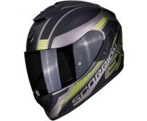 Casco Scorpion Exo 1400 Air Free Matt Titanium Black-neon Yellow